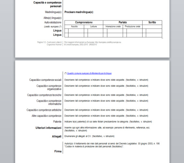 Download Curriculum Vitae Europass Free Networkice Com