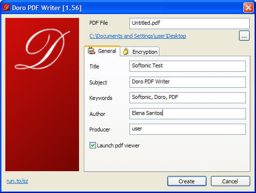 Screenshot  Of Doro Pdf Writer