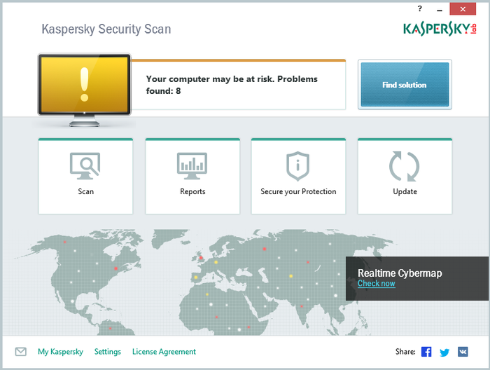 Screenshot 1 of Kaspersky Security Scan