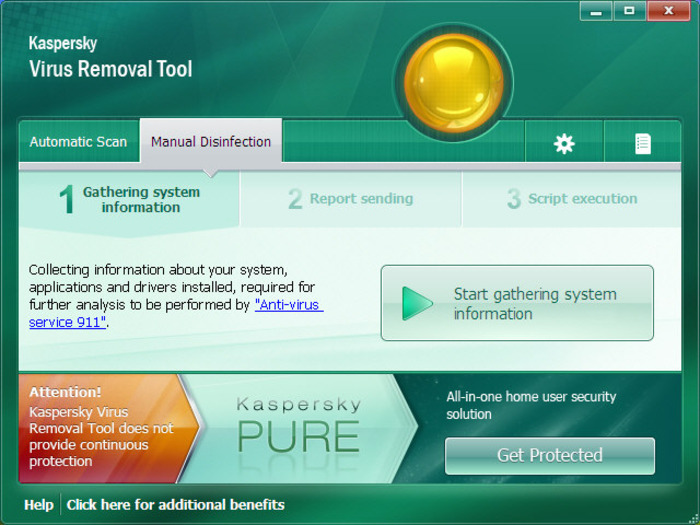 Screenshot 2 of Kaspersky Virus Removal Tool