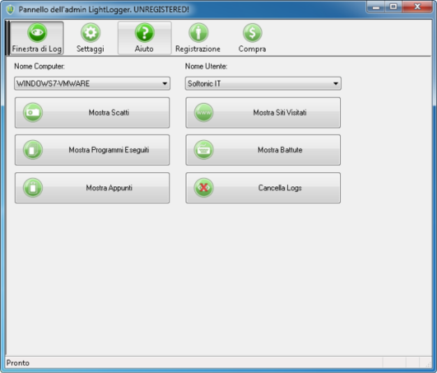 Screenshot 1 of LightLogger Keylogger