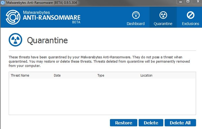 Screenshot 1 of Malwarebytes Anti-Ransomware