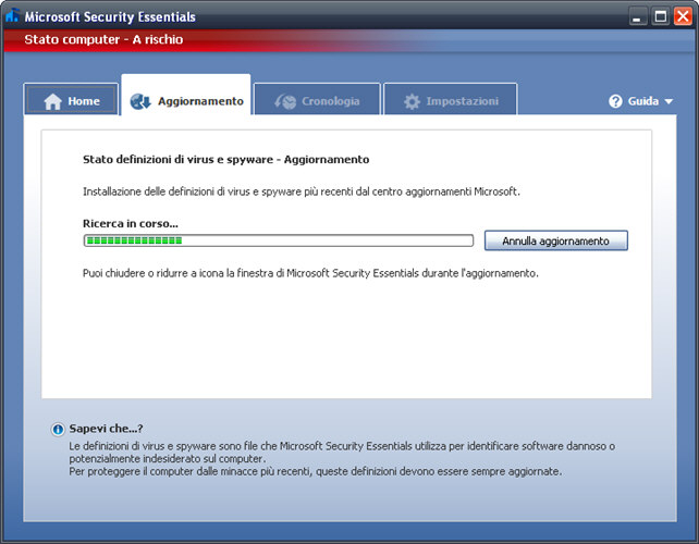 Screenshot 3 of Microsoft Security Essentials