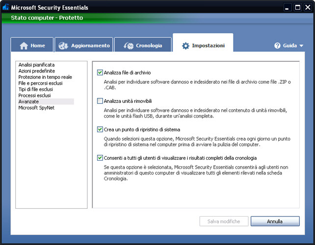 Screenshot 7 of Microsoft Security Essentials