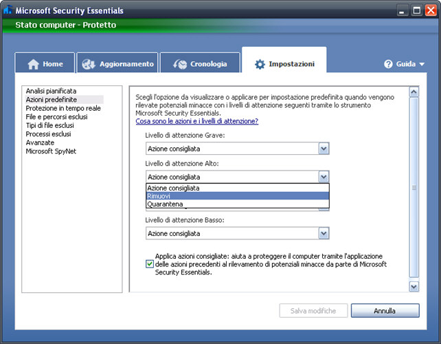 Screenshot 10 of Microsoft Security Essentials