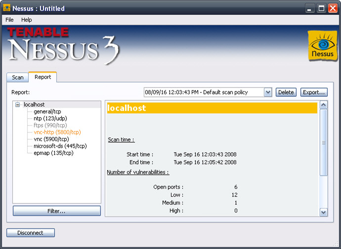 Download Nessus free — NetworkIce com