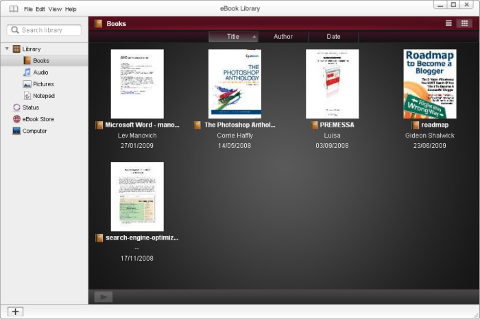 EBOOK LIBRARY SOFTWARE SONY EPUB