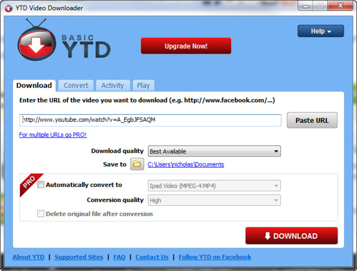 Download ytd video downloader free networkice screenshot 5 of ytd video downloader ccuart Choice Image
