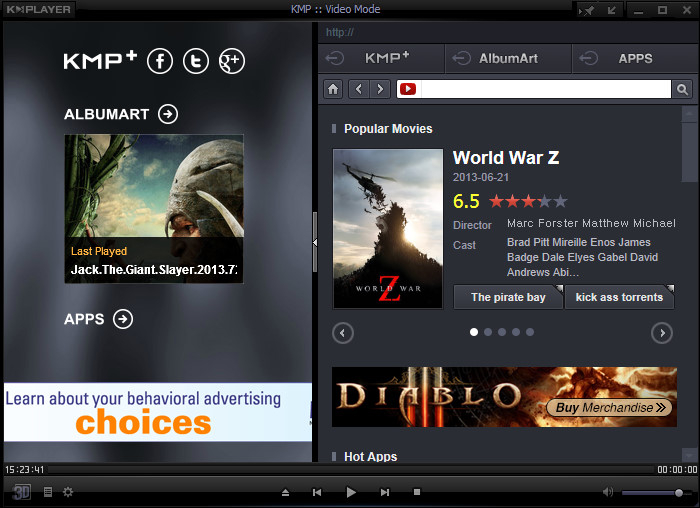 KMPlayer For PC Free Download (Windows 7,8,10)