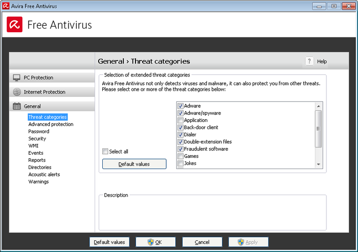Screenshot 1 of Avira Free Antivirus