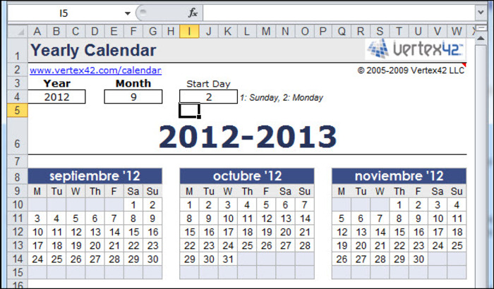 Download Free Yearly Calendar Template Free Networkice