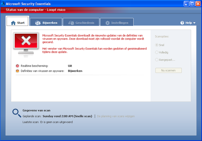 Screenshot 3 of Microsoft Security Essentials voor Windows XP