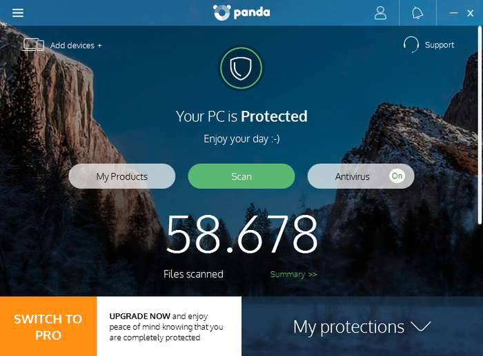Screenshot 1 of Panda Free Antivirus