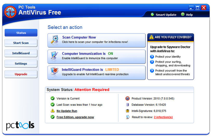 Screenshot 2 of PC Tools AntiVirus