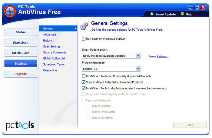 Screenshot 4 of PC Tools AntiVirus