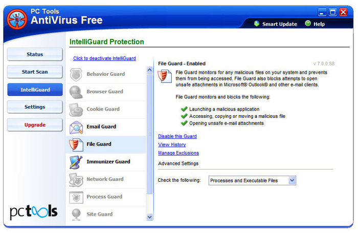 Screenshot 6 of PC Tools AntiVirus