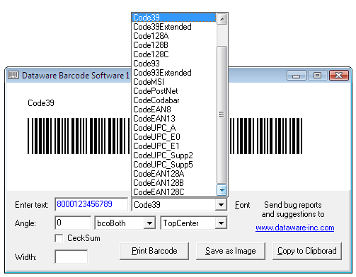 Download Barcode Software free — NetworkIce com