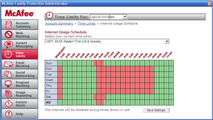 Download McAfee Family Protection free — NetworkIce com