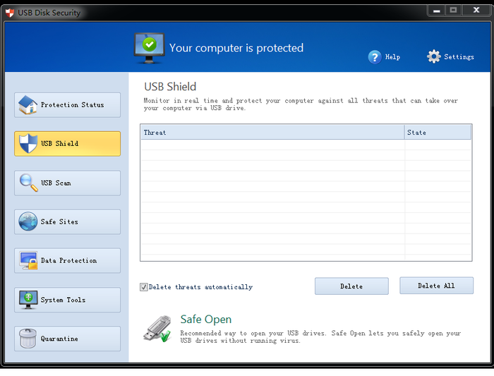 Screenshot 1 of USB Disk Security