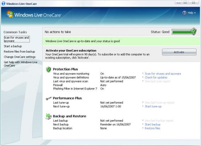 Screenshot 3 of Windows Live OneCare
