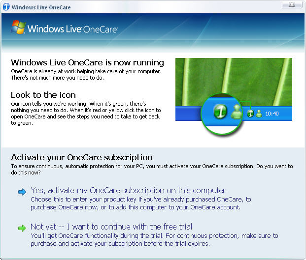 Screenshot 2 of Windows Live OneCare