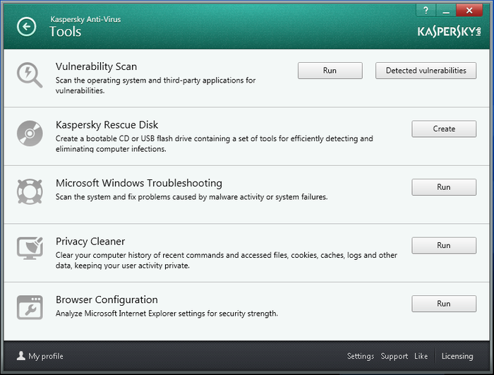 Screenshot 4 of Kaspersky Anti-Virus