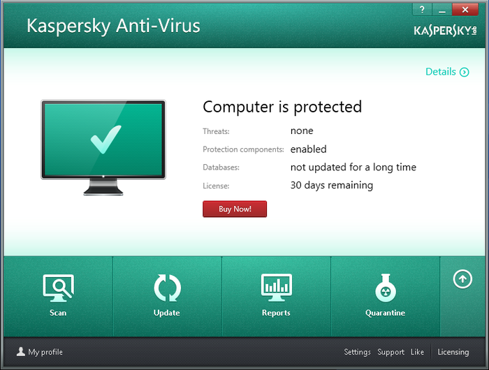 Screenshot 3 of Kaspersky Anti-Virus