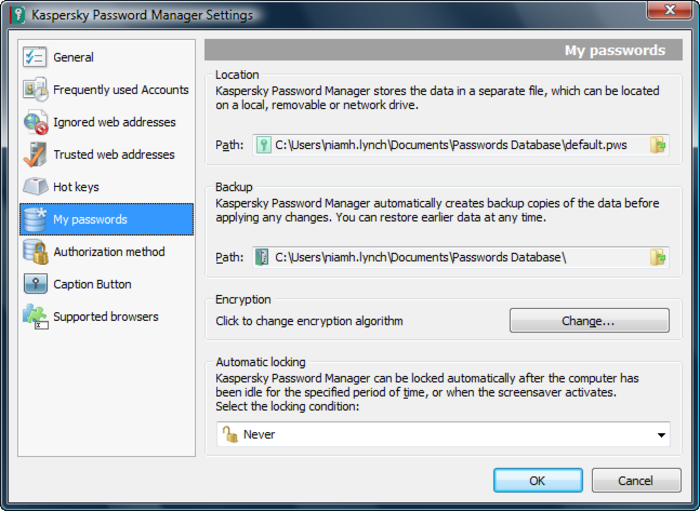 Screenshot 1 of Kaspersky Password Manager
