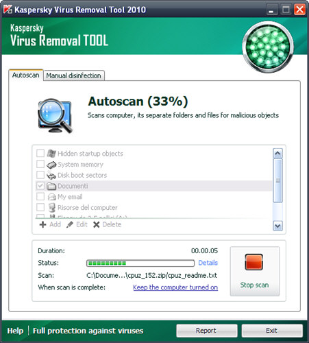 Screenshot 3 of Kaspersky Virus Removal Tool