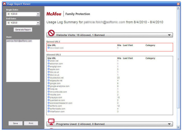 Screenshot 2 of McAfee Family Protection