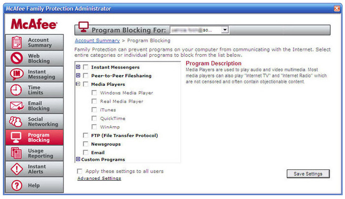 Screenshot 4 of McAfee Family Protection