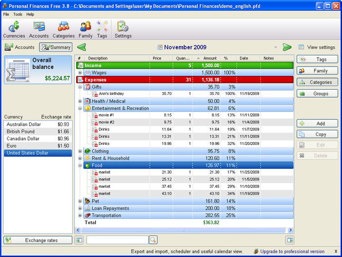 Free checkbook register software check for pc excel spreadsheet.