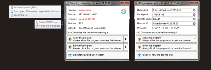 Screenshot 1 of Windows Firewall Control