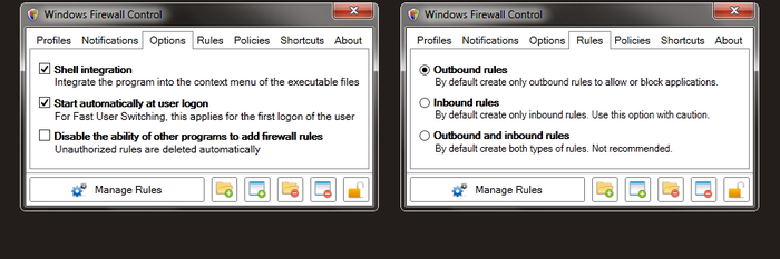 Screenshot 3 of Windows Firewall Control