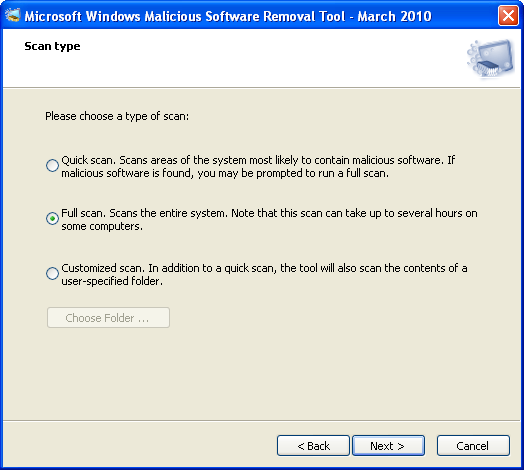 Screenshot 5 of Windows Malicious Software Removal Tool