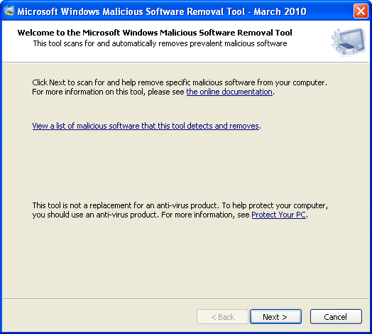 Screenshot 3 of Windows Malicious Software Removal Tool