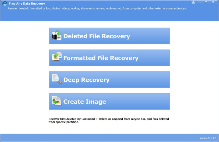 Screenshot 1 of Any Data Recovery